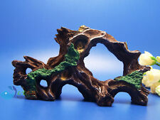 Tree trunk Aquarium Ornament Driftwood poly resin  Decor root Decaying AK591