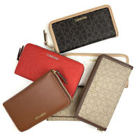 Calvin Klein Women's Handheld Leather Wallet (U Pick Color) MSRP $99.50