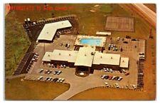 1950s/60s Aerial View of Trojan Motor Inn, Troy, OH Postcard
