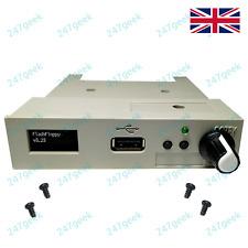 GOTEK USB Floppy Emulator FlashFloppy White OLED, Rotary encoder sound 16GB USB
