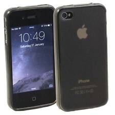 5 x GREY APPLE iPHONE 4 /4S SOFT SILICONE GEL RUBBER CASES :FROSTED BACK TPU M23