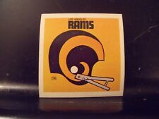 1977 NFL Football Helmet Sticker Decal Los Angeles Rams Sunbeam Bread