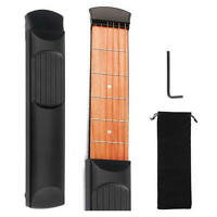 Portable Travel Acoustic Wooden Pocket Guitar Trainer Chord Practice Tool