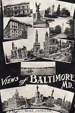 1907 VIEWS OF BALTIMORE MARYLAND*UNDIVIDED BACK*BURKITTSVILLE MD*NELLIE HIGHTMAN
