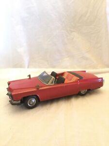 VTG Bandai Japan Tin Toy Cadillac Car Nice condition 1960 Batt Op Made in Korea