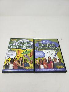 Standard Deviants Learn English Punctuation 1 & 2 DVD Educational Homeschool Lot