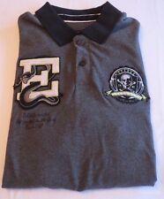 Men's ECKO UNLTD Unlimited Large Gray Reptile e Polo Deadly Skull Shirt EK03254