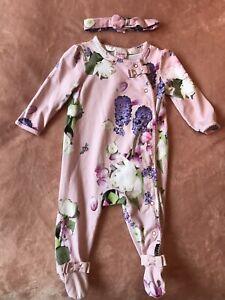 Baby Girl Ted Baker Babygrow/ Sleepsuit 3-6 Months