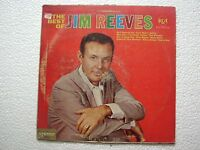 JIM REEVES THE BEST OF JIM REEVES 1st Press RARE LP record INDIA INDIAN VG+