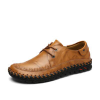 Men's hand-stitched leather business casual shoes daily non-slip slow walking sh