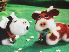 SEWING PATTERN Jean Greenhowe Moo & Chew Miniature Cows 2 Toys 9cm Cow Toy RARE