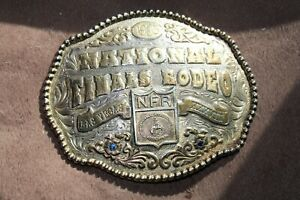 1995 XXXV!!  National Finals Rodeo Las Vegas  Belt Buckle # 3352  Award Design