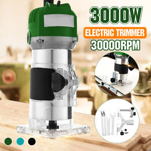 3000W 6.35mm Electric Handheld Trimmer Palm Router Laminate Wood Laminator Tool