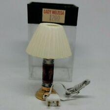 Lady Melissa Floral Lamp Dollhouse Miniature 1:12 Twelve Volt