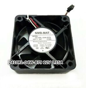 NMB 2410RL-04W-B79 6025 12V 0.35A 6CM 3-pin double ball server fan