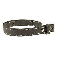 "BUFFALO LEATHER STITCHED CASUAL BELT Strap_No Buckle_1-1/2""_Amish Handmade"