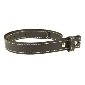 """BUFFALO LEATHER STITCHED CASUAL BELT Strap_No Buckle_1-1/2""""_Amish Handmade"""