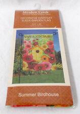 New listing Meadow Creek Outdoor Summer Birdhouse Welcome Garden Flag Woven Polyester Faux