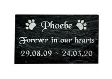 Personalised Engraved Slate Pet Memorial Grave Marker Plaque Dog/ Cat