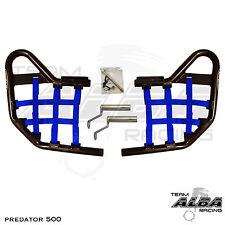 Predator 500 Polaris   Nerf Bars   Alba Racing   Black bar Blue nets 208 T1 BL