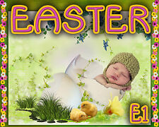 E1 Easter Digital backgrounds, backdrops Children Kids Props Holiday Photography