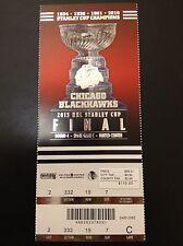 Chicago Blackhawks Stanley Cup Finals Game 5 Unused Tickets Stub v Boston Bruins