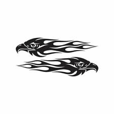 Pair of Eagle Flames - Vinyl Decal Sticker - Multiple Color & Sizes - ebn246