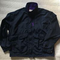 LL Bean Jacket Windbreaker Blue Full Zip Mens Sz Large Vintage Made In USA EUC