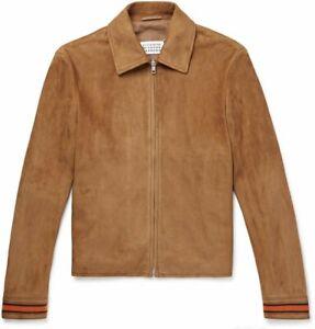 Maison Margiella Tan Blouson Suede Leather Jacket 48EU (38UK)