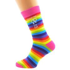 Womens Trust Me I'M Gay Female Sign Rainbow Socks UK 5-9