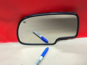 00-02 GM CADILLAC CHEVY LEFT HAND DRIVER SIDE VIEW MIRROR GLASS AUTO DIM HEATED