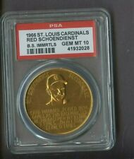 1966 St. Louis Cardinals Baseball Immortals Red Schoendienst HOF PSA 10