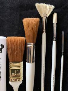 Bob Ross oil painting brushes set
