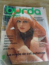 RARE MAGAZINE BURDA MODEN VINTAGE CAPE/PONCHO/JUPE/ROBE/MANTEAUX SEPTEMBRE 1975
