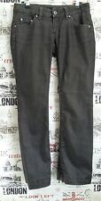 Rare Calvin Klein Women's Brown Cotton Waxed Jeans Trousers Sequin size 8-10 UK