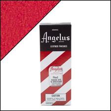 Angelus Red Suede Dye 3 oz. with Applicator for Shoes Boots Bags NEW