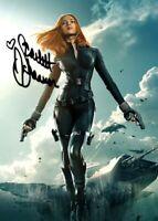 Scarlett Johansson Autographed 8x11 Photo Black Widow Avengers Promo