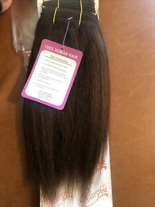 Yaki Human Hair Weave On Weft. 10 Inches Long. Colour Number 4.