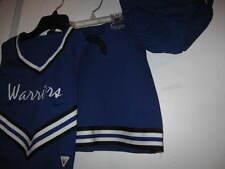"3 pc Cheerleader Outfit jr 1 waist 25"" blue cheerleading Skirt Top Under pants"