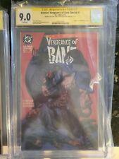 Batman Vengeance Of Bane #1 CGC SS 9.0 REMARKED!!Signed DIXON + NOLAN!!🔥