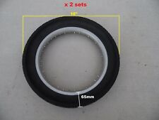 """16"""" scooter Solid Flat pantech proof tire with 36H rim  2 sets"""