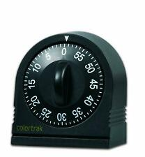 LONG RING BELL ALARM 60 Minute Wind Up Timer Countertop Kitchen Cooking Black