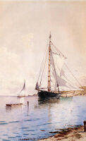 """perfect oil painting handpainted on canvas """"Drying the Main at Anchor""""N8223"""