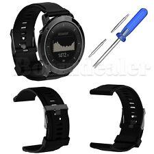 Silicone Wrist Band Strap for Suunto Traverse / Alpha GPS Watch W/ Tool -Black