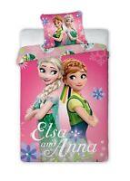 Set Cama FROZEN Elsa Anna Verde Funda Nórdica 140x200cm Almohada Cotton Disney