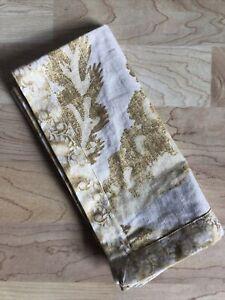 "Williams Sonoma PALAMPORE Gold Tone Napkin Cotton/Linen 20"" Square NWOT"