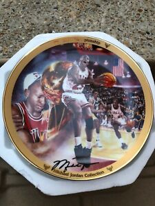 AUTHENTIC & RARE Michael Jordan Upper Deck  Decorative 1991 Championship Plate