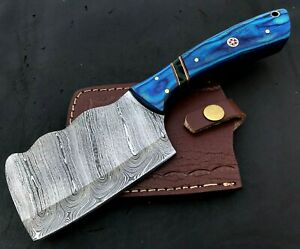 Handmade Axe-Damascus Steel Viking Axe-Camping-Outdoors-Leather Sheath-MD143