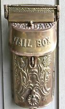 Vintage Victorian style Solid Brass Standard Wall Mailbox with Peephole Heavy