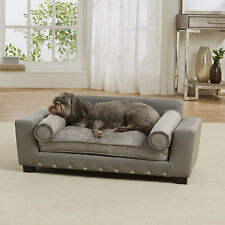 "Enchanted Home Pet Grey Scout Pet Sofa, 32"" L x 17.25"" W"